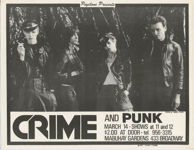 The CRIME and Punk 1977 Mar 14 Mabuhay Gardens Handbill