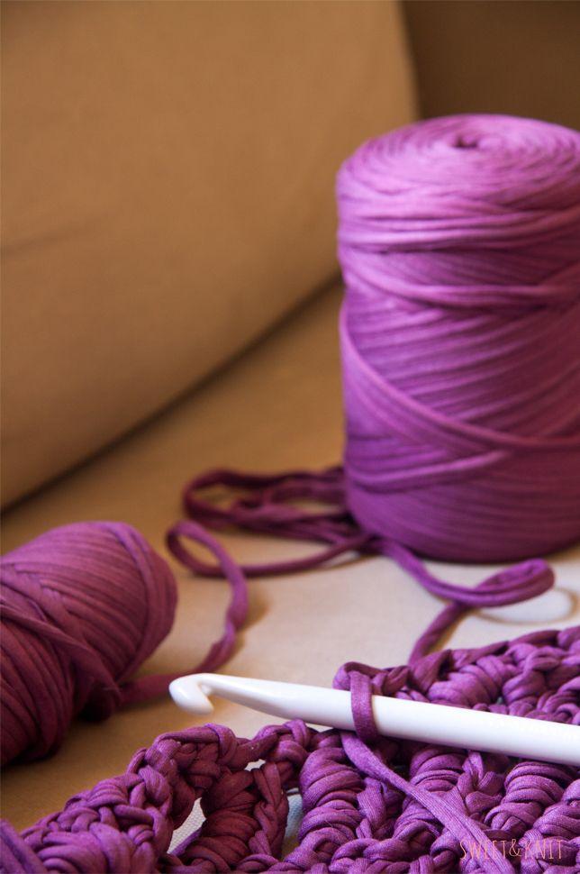 Patrón de alfombra de ganchillo XXL ``a la mitad ´´