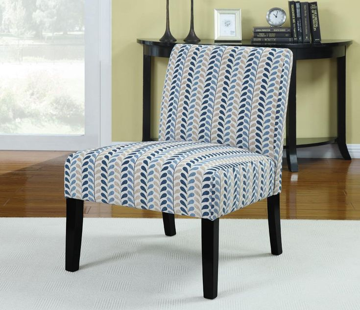 Best Coaster Cs059 Blue Beige Accent Chair Accent Chairs 400 x 300