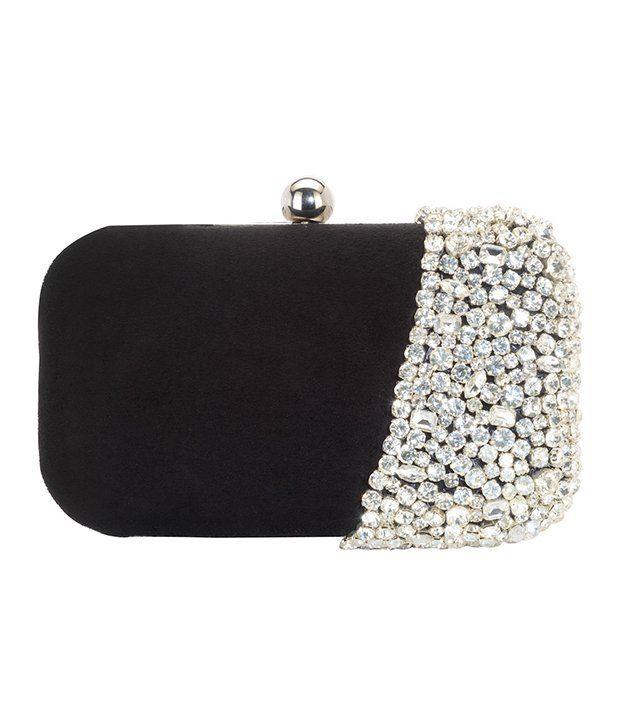 Saisha Fcb0056 Black Clutch, http://www.snapdeal.com/product/shreekala-fashions-designer-export-quality/1122064464