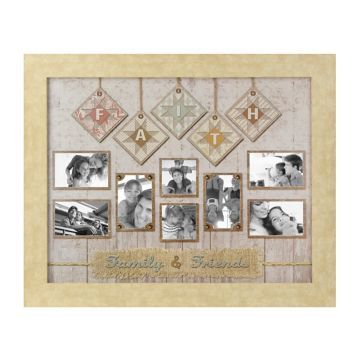 faith friends and family quilt collage frame