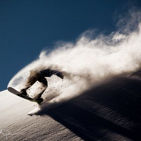 Another of my favorites of the first 500 pins.  It is action, it is fun and it is in powder!  #snowboard