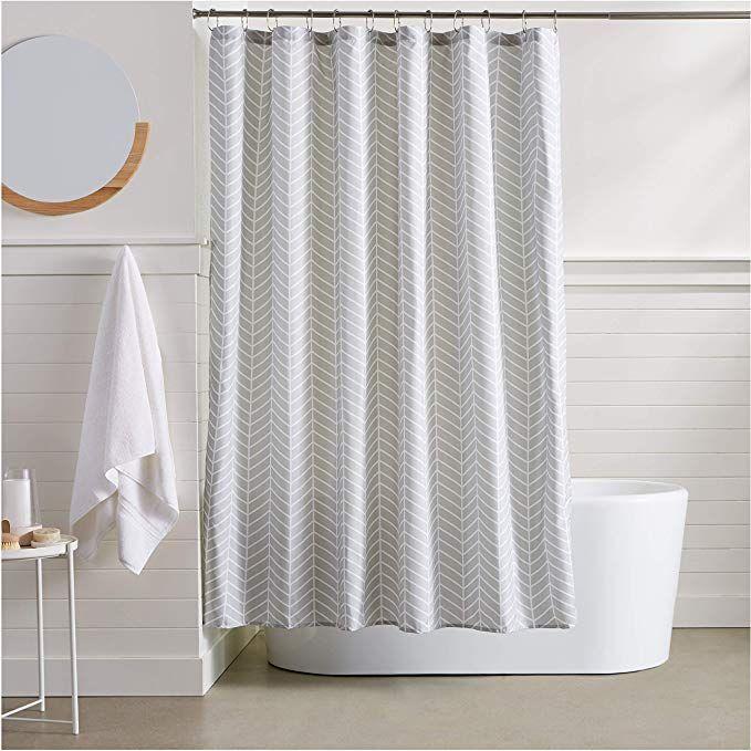 13 Amazonbasics Herringbone Shower Curtain Fabric Shower