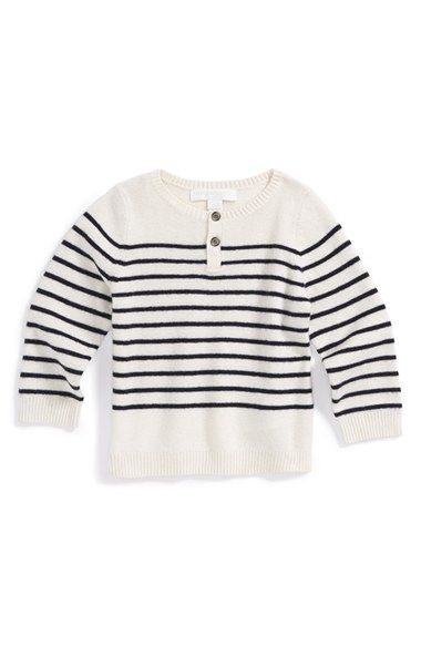 Burberry Stripe Sweater (Baby Boys) available at #Nordstrom
