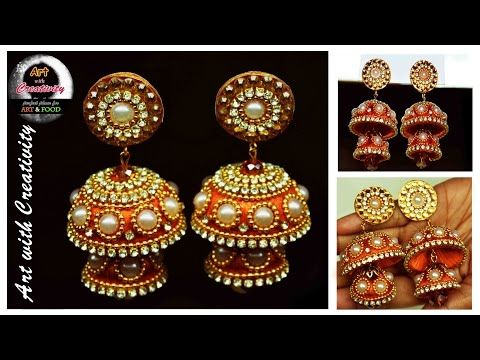 Silk thread Earring | Bridal Jhumka | Art with Creativity 128 - YouTube