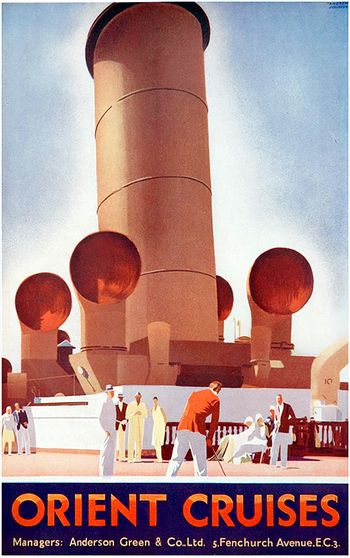 Vintage travel poster for Orient Cruises