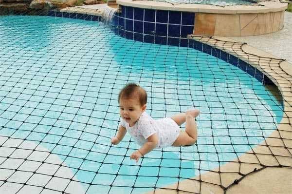 Filet de sécurité pour piscinesVendu en kits DIY, avec ancrage et tensionaccessoiresFacile à installerLes enfants ne peuvent pas enlev