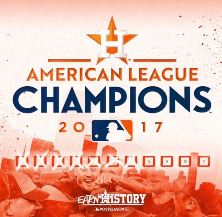 Houston Astros 2017 American League Champions #WorldSeriesBound #earnedit Love these guys!