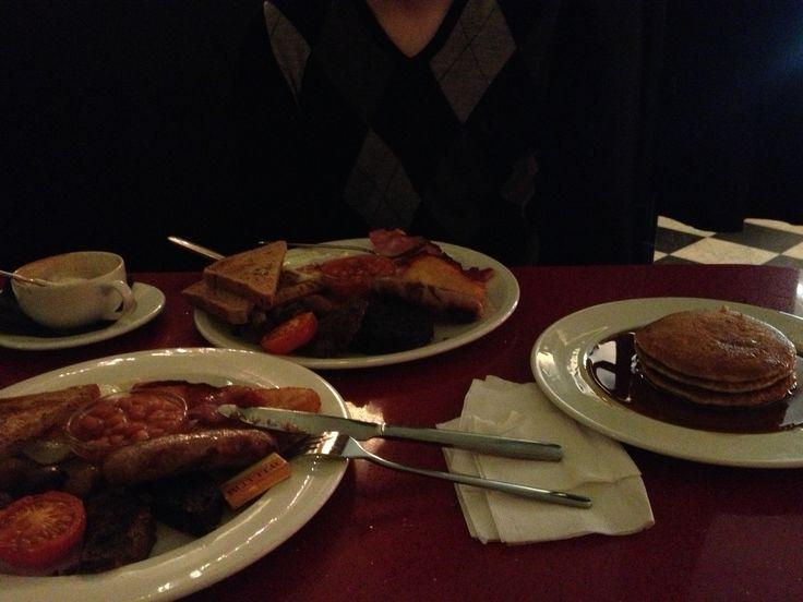 Scottish breakfast and pancakes :)