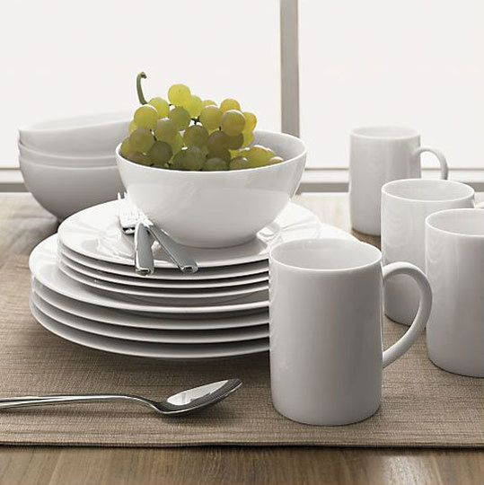 "Budget Basics: Simple White Dinnerware    -   Corelle Wear is the best. I plan to buy new ""Winter Frost"" pieces to supplement the pieces my mom has had since I was a little girl. I don't know why she decided to switch, but her loss is my gain!"
