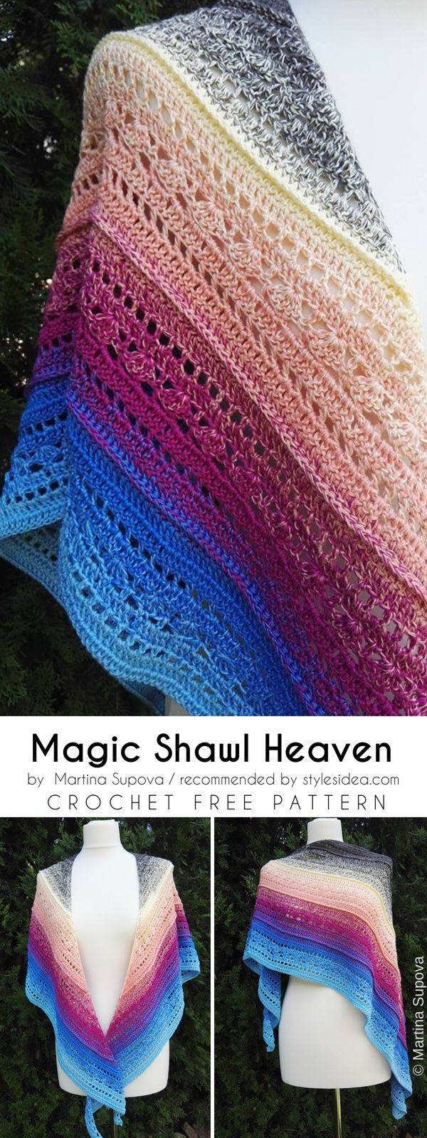 Stunning evening shawls free crochet pattern reheart Choice Image