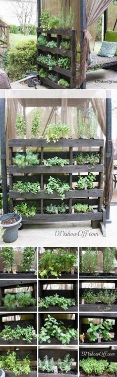 Free Standing Pallet Herb Garden Tutorial