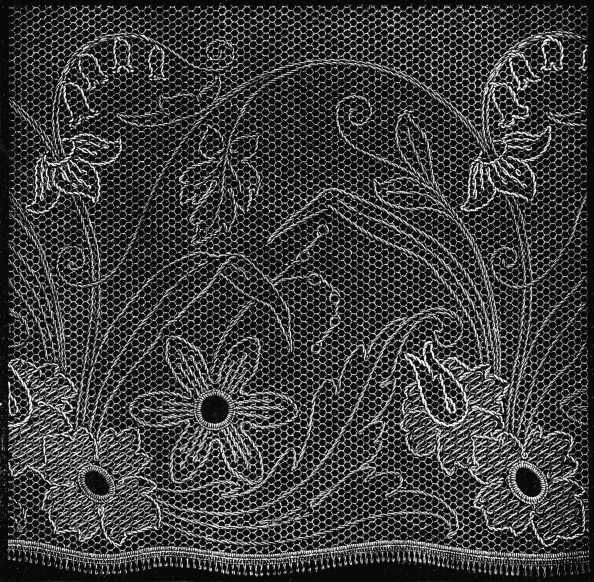 FIG. 138. BROAD NET LACE TRACERY.