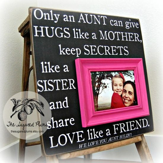 Aunt Gift Personalized Picture Frame - I need my nieces to make this for me!!