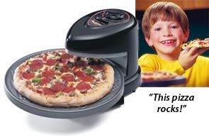 Presto Pizzazz pizza oven. The handiest kitchen gadget my family goes to for their DiGorno pizzas.