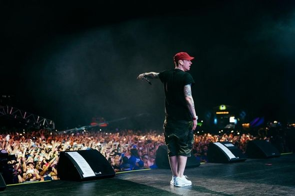 (Eminem's official Facebook fan page)Eminem during a concert.  It has been three years since rap icon Eminem dropped his last studio album, and fans have bee...