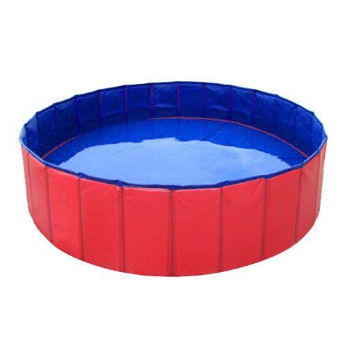 Portable Folding Kids Pet Swimming Pool Bath Extra Large Hard Plastic 1mx1mx30cm Dog Swimming