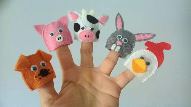 Títeres de dedo. Animalitos de granja