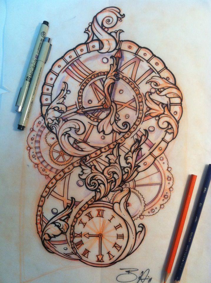 Timepiece Tattoo Design...