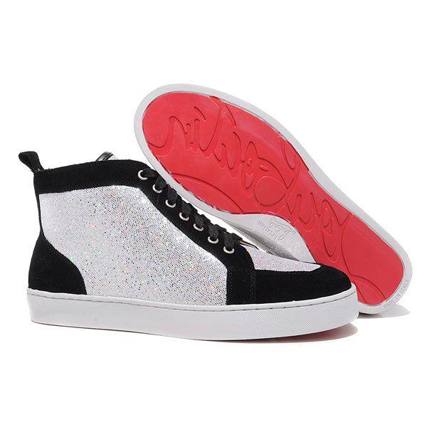 Christian Louboutin Sneakers Louis High Top Cloth Sequin Men Sneakers : Christian  Louboutin
