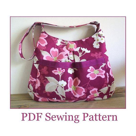 INSTANT DOWNLOAD Bag Pattern Sewing - PN401 Heather Hobo Shoulder Bag pdf