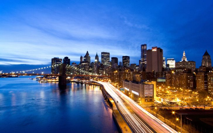 new york city HD wallpapers : New York Night Light Broadway