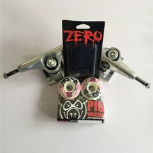 """Skateboard Parts Mixed UNION 5.25"""" Skate Trucks & PIG 50mm Skate Board Wheels Plus Zero Riser Pads for Complete Skateboard //Price: $US $68.00 & FREE Shipping //     #cosplay"""