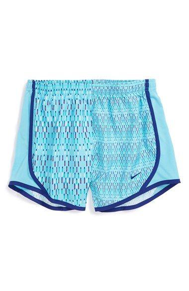 Nike 'Tempo GFX' Dri-FIT Track Shorts (Big Girls)