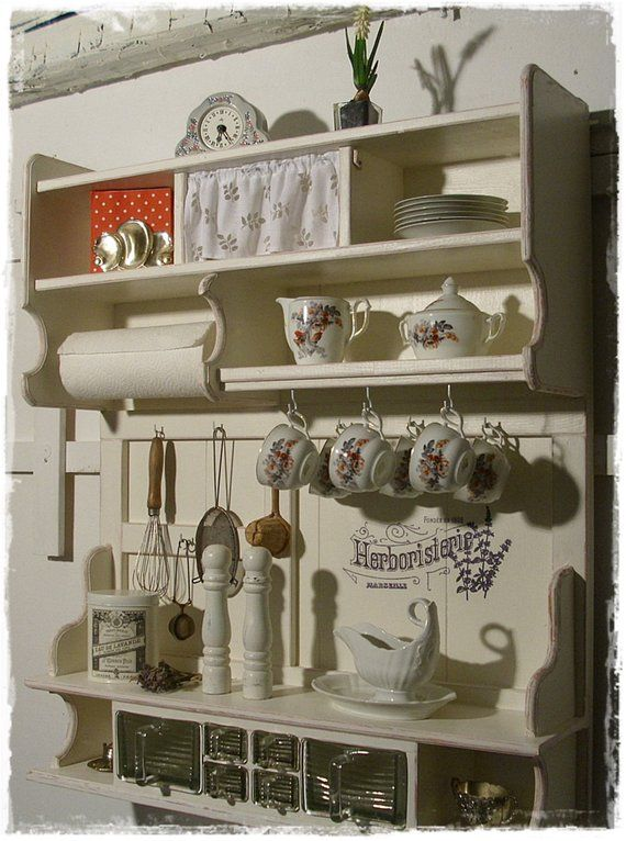 Wall Shelf, Kitchen Rack, Schüttenregal, Shabby In 2019 | Küche | Kitchen  Rack, Wall Shelves Und Shelves