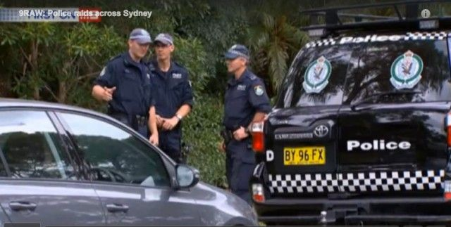 NSW police, AFP conduct raids in Sydney