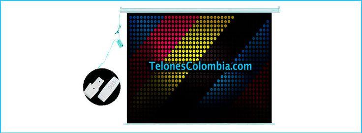 Telón con sistema eléctrico de 366x366 cms