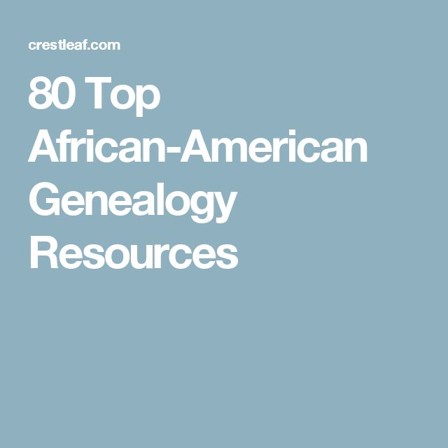 80 Top African-American Genealogy Resources