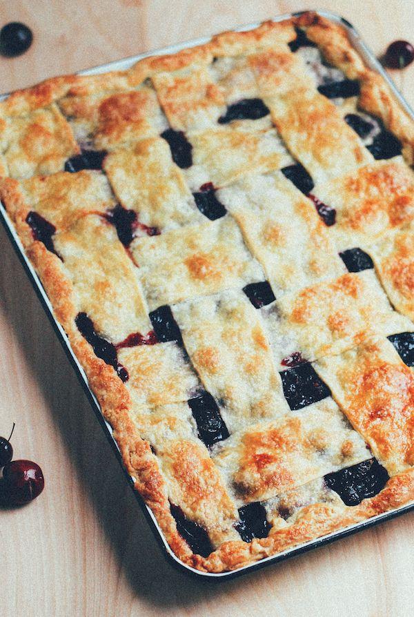 bing cherry slab pie // brooklyn supper