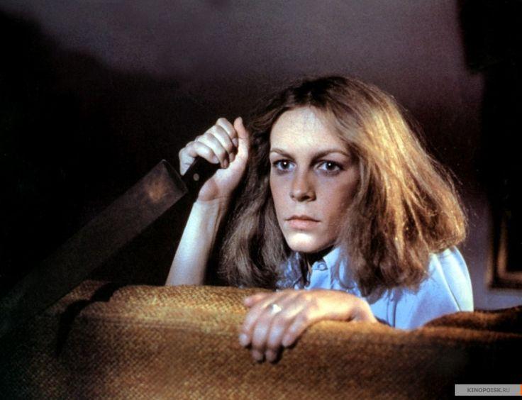 "Джейми Ли Кёртис в роли Лори Строуд, ""Хэллоуин"" / Jamie Lee Curtis, ""Halloween"" (реж. Джон Карпентер, США, 1978) #хэллоуин #кертис #карпентер #фильм"