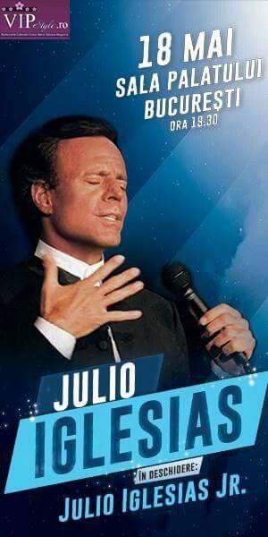 Miercuri, 18 Mai 2016, ora 19:30, Julio Iglesias revine în București la Sala Palatului. VIPStyle.ro este Partener Media la acest eveniment.  Detalii & Bilete >> http://www.bilete.ro/concert-julio-iglesias-18-mai-2016