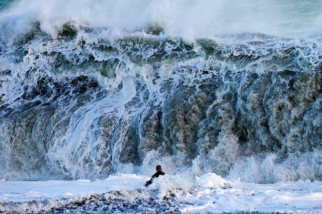 Yikes - this is a scary wave - oh lordy by iamjimmyjackson, via Flickr: Surfing Big, The Ocean, Amazing Water, Crazy Surfing, Waves Surfing, Crazy Waves, Big Waves, Surfing Waves, Surfing Photography