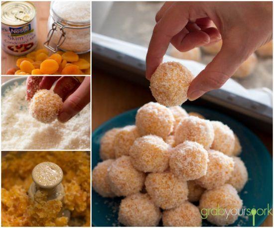 Apricot Balls 3 Ingredients No Bake Video