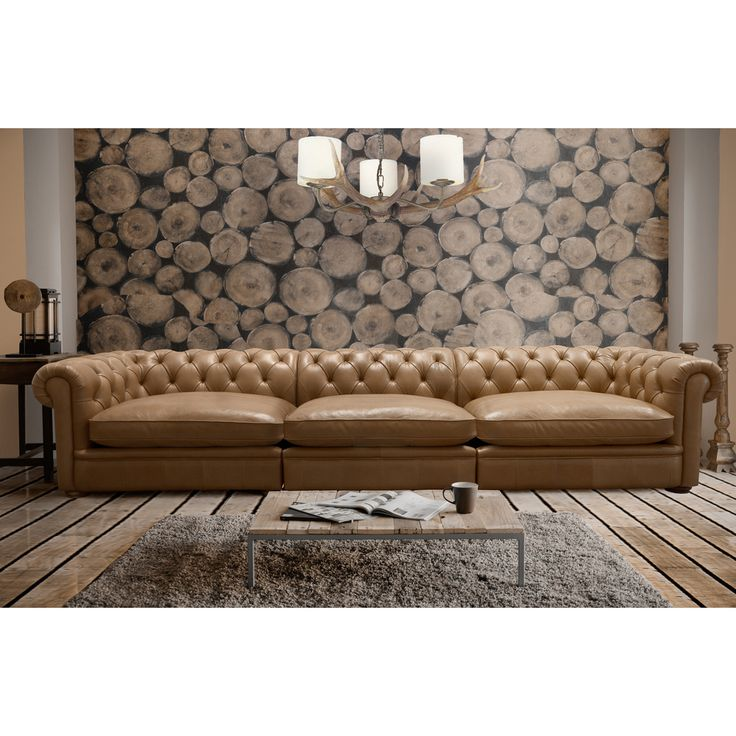abraham 142inch 3piece aurora honey leather sofa set by i love living