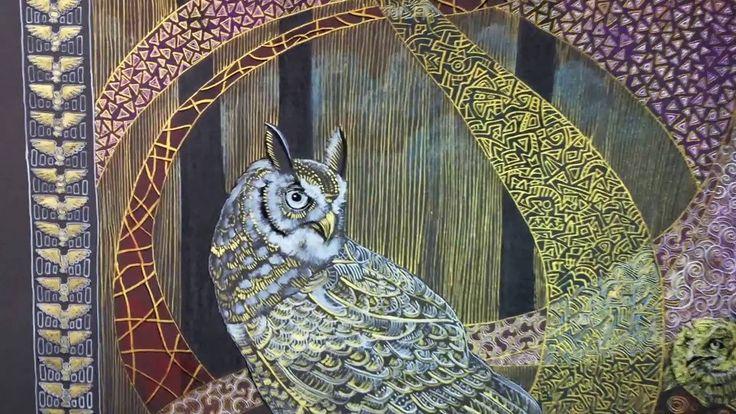 """"""" Owls fairy tale: Indian Eagle Ow """" Совиная сказка: Бенгальский филин"""""""