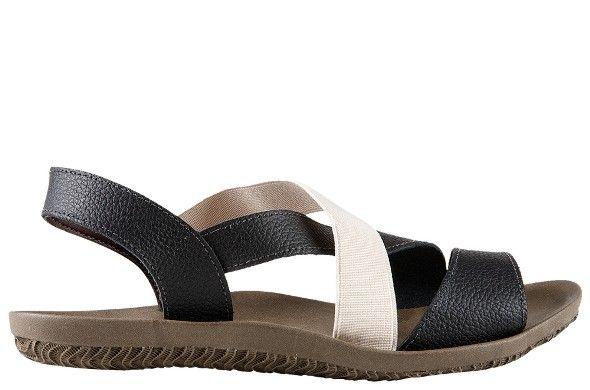 Inusitada pelo contraste do preto e branco, Dinara é o tipo de sandália que vai bem com tudo. Feita em couro com detalhe em elástico e solado de borracha super macio. Calce prático e design contemporâneo. Despojada com o pé no chão, ela traz o prazer de estar quase descalça pelo conforto e leveza que proporciona.