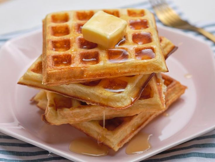 The Best Buttermilk Waffles Recipe In 2020 Buttermilk Waffles Food Network Recipes Waffle Recipes