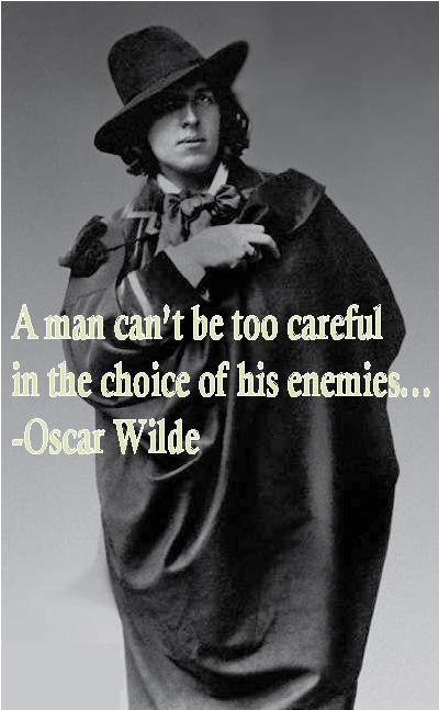 Oscar Wilde on Enemies