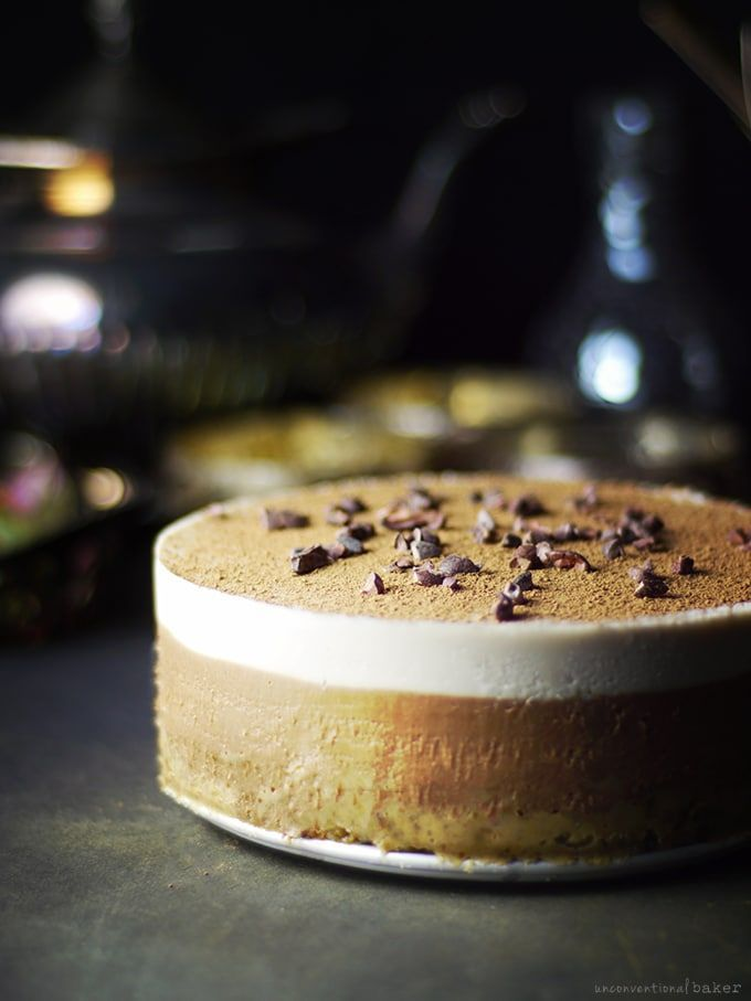 Raw Tiramisu -- a classic reinvented free from: gluten & grains, dairy, eggs, and refined sugar.