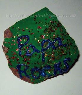 Crafts~N~Things for Children: Dad Rocks Paperweight Craft and 2 Father's Day Songs