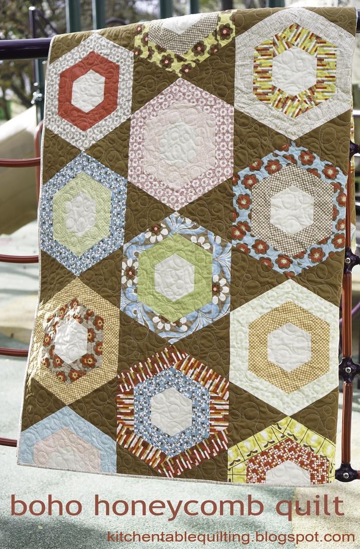 691 best images about hexagon blocks quilts on pinterest for Kitchen quilting ideas