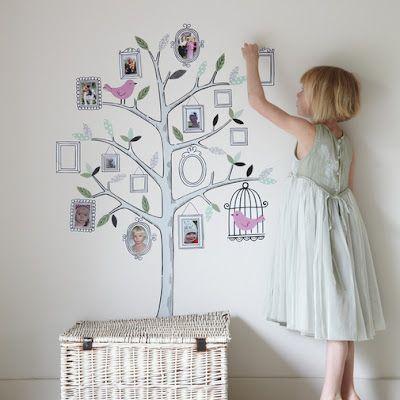 family tree: Wall Decor, Wall, Idea, Family Trees, Families Trees Wall, Kid Rooms, Family Tree Wall, Wall Stickers, Kids Rooms