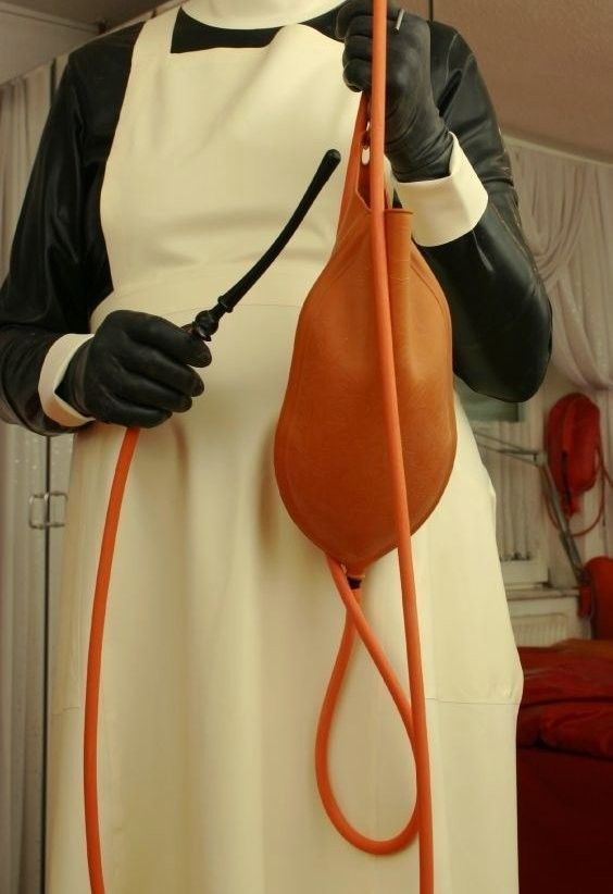 """razrstrpr: """"""""You said you like old fashioned punishments; this 3 quart enema bag is definitely an older type of bag. I am not sure if you will enjoy it. I hope not… as I love hearing you beg me to stop it. Not that I will…"""" """""""