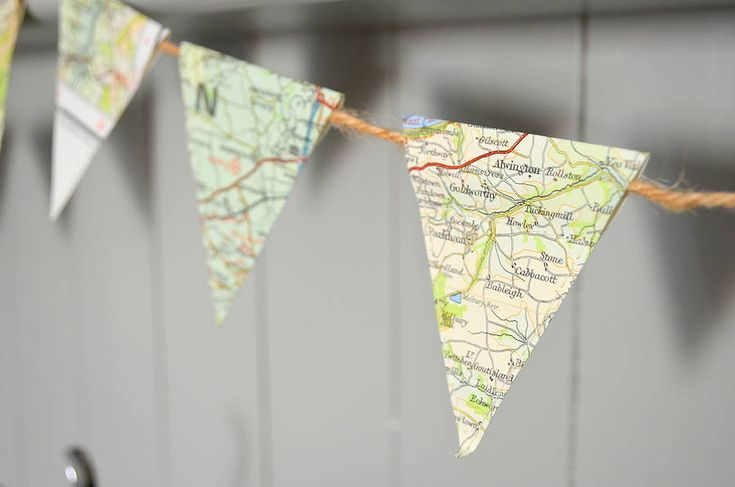 map bunting - not on the high street