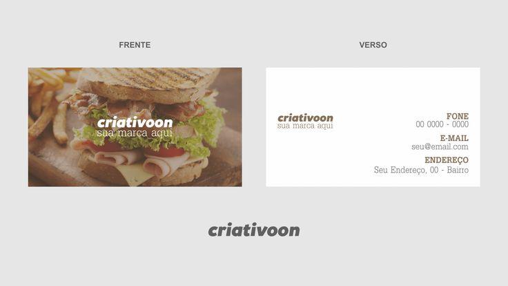 Cartão de visita casa de sanduíches