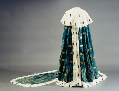 Princely robe, first made for Sofia Magdalena in 1771, worn by Hedvig Elisabet Charlotta at her wedding in 1774 and later worn by crown princess Desideria.